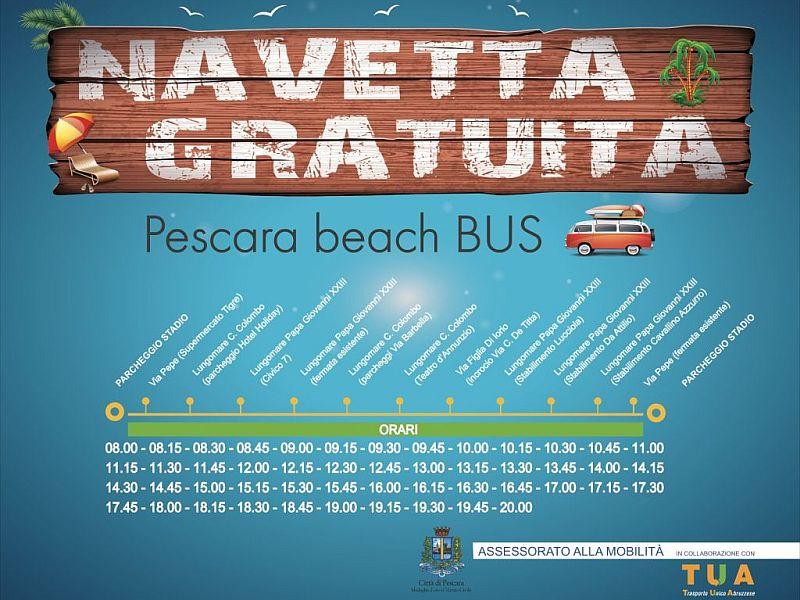 Parte la navetta del mare gratuita a Pescara sud
